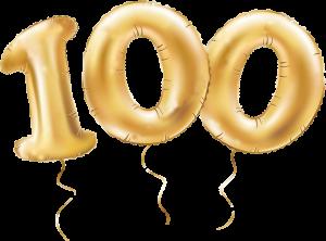 100 balony